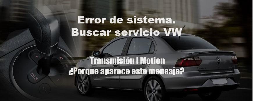 Error de sistema. Buscar servicio VW